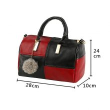Women's Casual Black and Red Bag