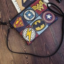 Cute Marvel Styled Colorful Women's Clutch Bag