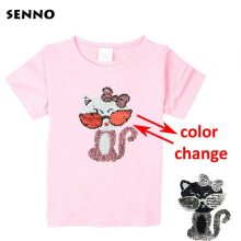 double sided sequins t-shirt for girls 24