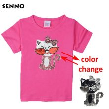 double sided sequins t-shirt for girls 25