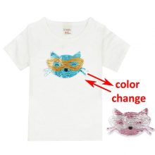 double sided sequins t-shirt for girls 26