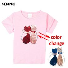 double sided sequins t-shirt for girls 28