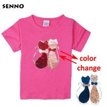 double sided sequins t-shirt for girls 29