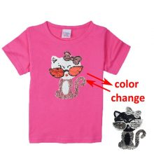 double sided sequins t-shirt for girls 39