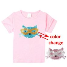 double sided sequins t-shirt for girls 40