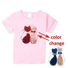 double sided sequins t-shirt for girls 41