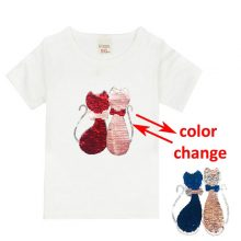 double sided sequins t-shirt for girls 43