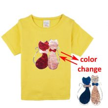double sided sequins t-shirt for girls 44