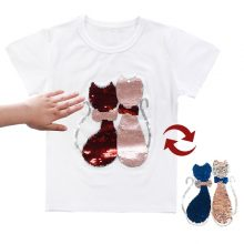 double sided sequins t-shirt for girls 45