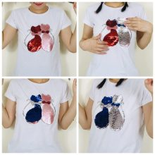 double sided sequins t-shirt for girls 47