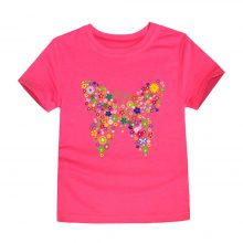 floral butterfly printed cotton t-shirt 02