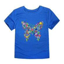 floral butterfly printed cotton t-shirt 03