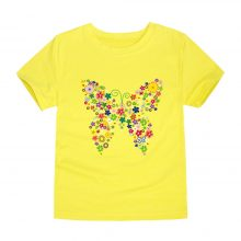 floral butterfly printed cotton t-shirt 04