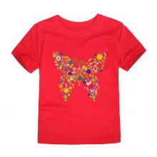 floral butterfly printed cotton t-shirt 05