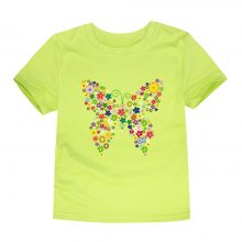 floral butterfly printed cotton t-shirt 06