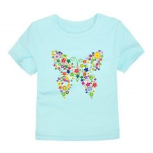 floral butterfly printed cotton t-shirt 07
