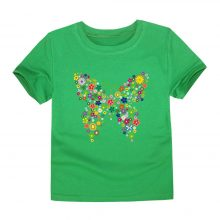floral butterfly printed cotton t-shirt 08