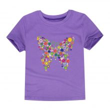 floral butterfly printed cotton t-shirt 09