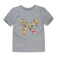 floral butterfly printed cotton t-shirt 10