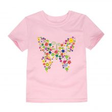 floral butterfly printed cotton t-shirt 11