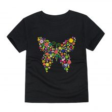 floral butterfly printed cotton t-shirt 13